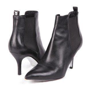 Michael Kors Leather Black Point Toe Bootie Sz 7